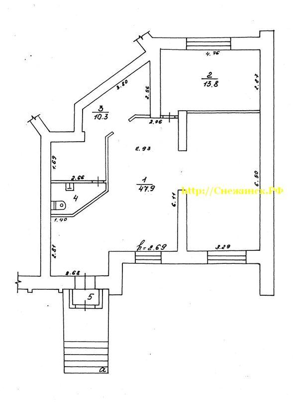Планировка помещения в аренду